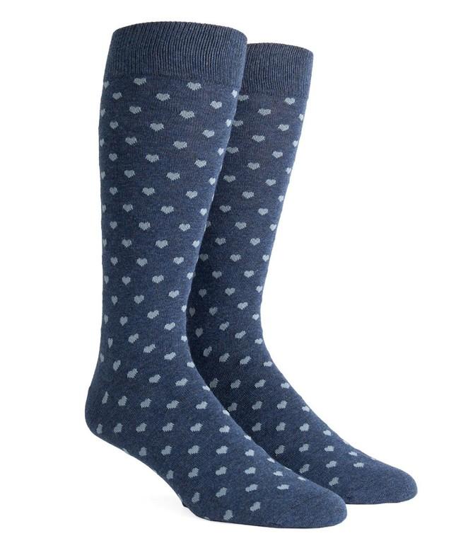 Band Of Hearts Blue Dress Socks