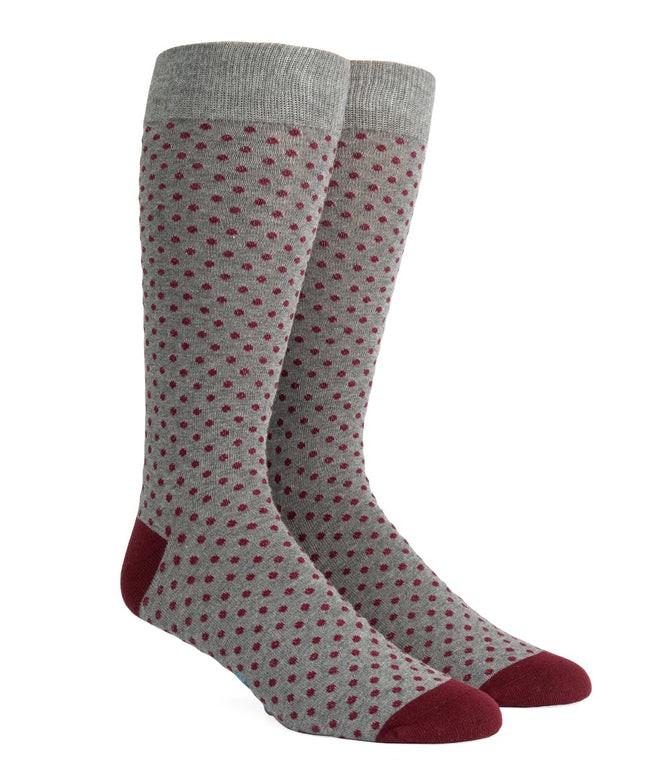 Pindot Charcoal Dress Socks