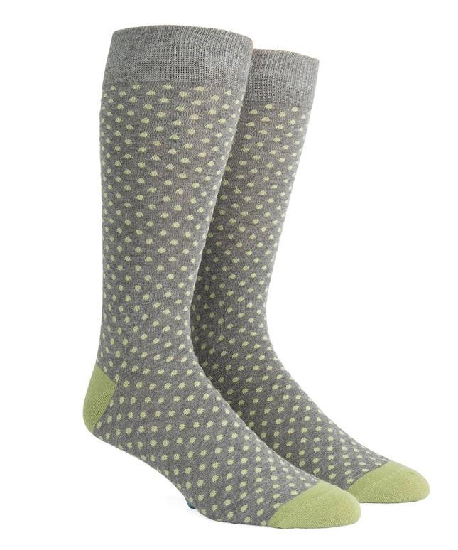 Pindot Warm Grey Dress Socks