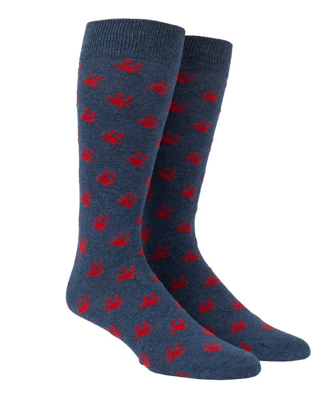 Crab Walk Navy Dress Socks