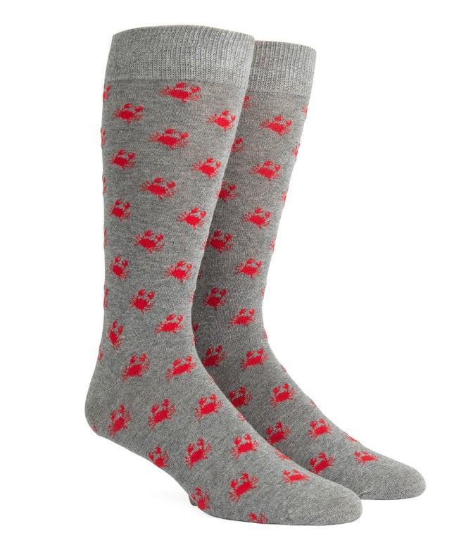 Crab Walk Grey Dress Socks