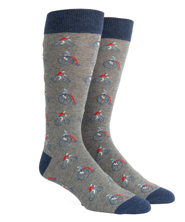 Cycle Time Grey Dress Socks