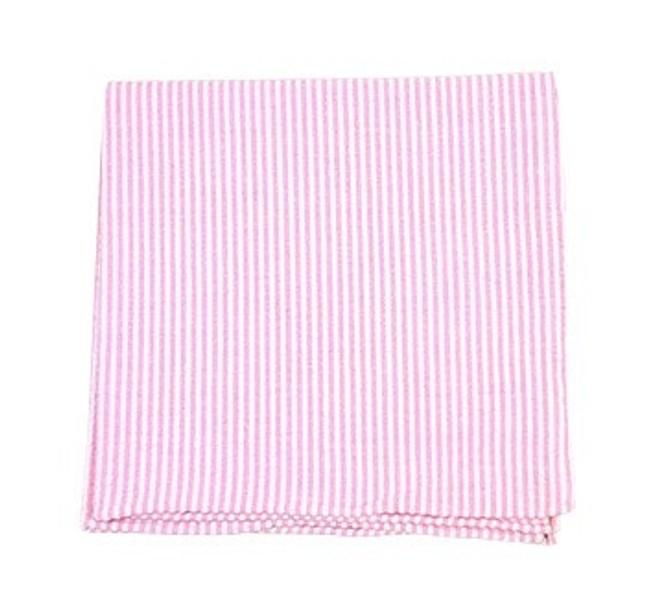 Seersucker Baby Pink Pocket Square
