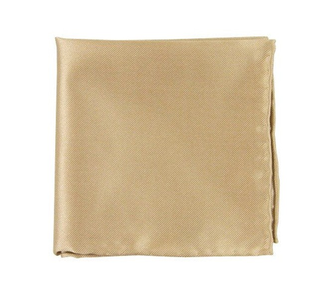 Solid Twill Light Champagne Pocket Square