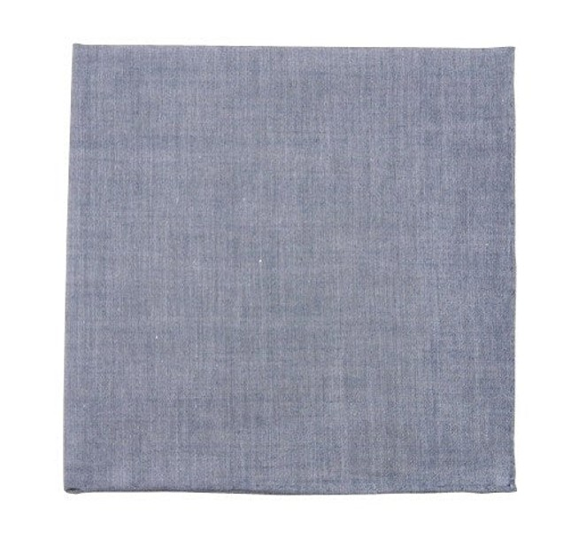 Classic Chambray Warm Blue Pocket Square