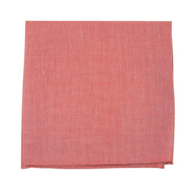 Classic Chambray Red Pocket Square
