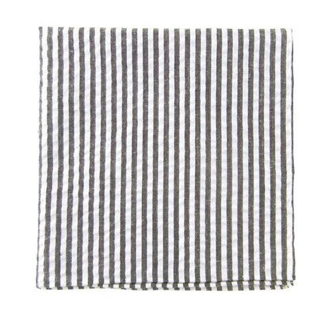 Seersucker Grey Pocket Square