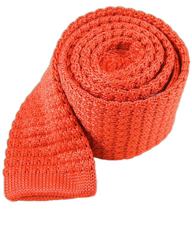 Textured Solid Knit Persimmon Tie