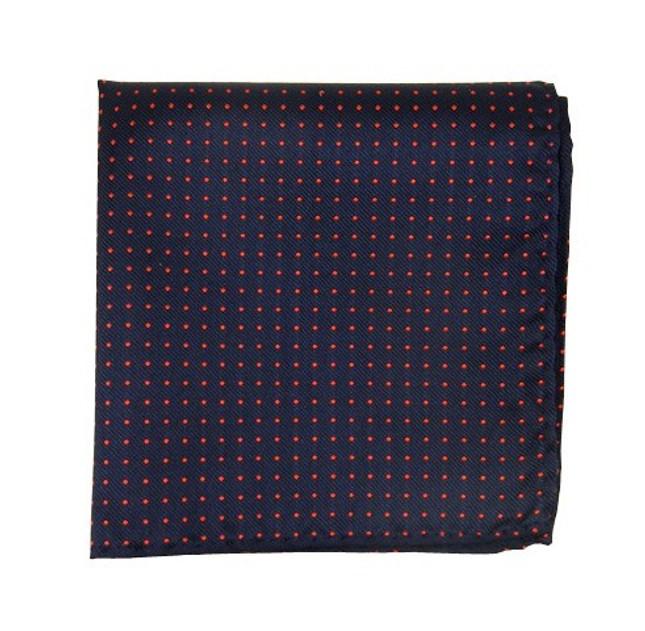 Mini Dots Matte Navy Pocket Square
