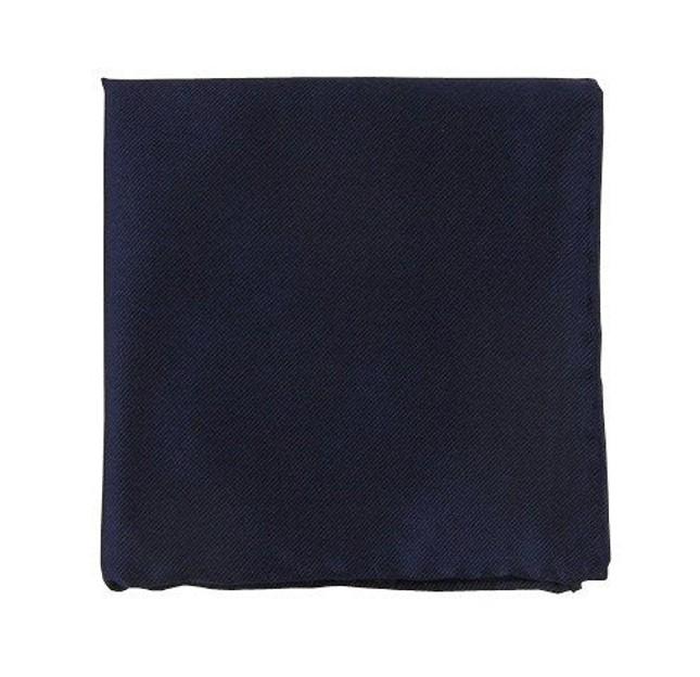 Solid Twill Navy Pocket Square