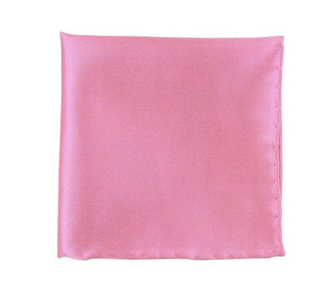 Solid Twill Baby Pink Pocket Square