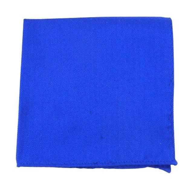 Solid Wool Royal Blue Pocket Square