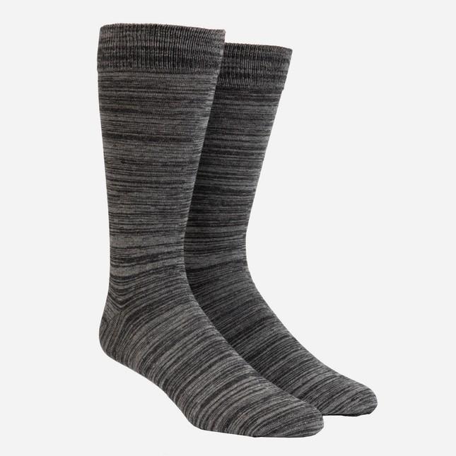 Marled Charcoal Dress Socks