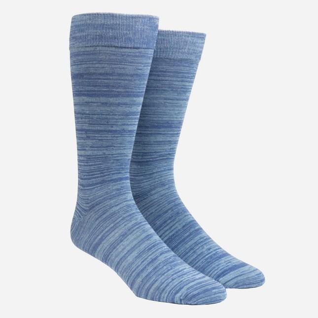 Marled Light Blue Dress Socks