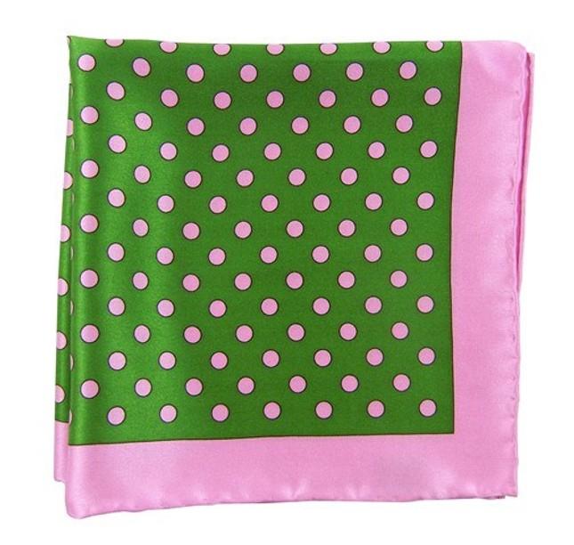 Big Printed Dots Kelly Green Pocket Square