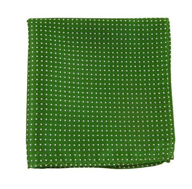 Pindot Kelly Green Pocket Square
