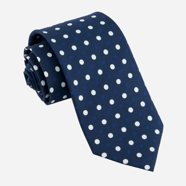 Hidden Dots Navy Tie