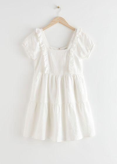 Tiered Ruffle Mini Dress