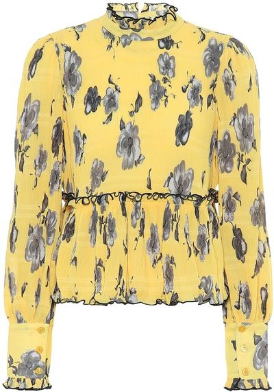 Exclusive to Mytheresa Floral crepe blouse