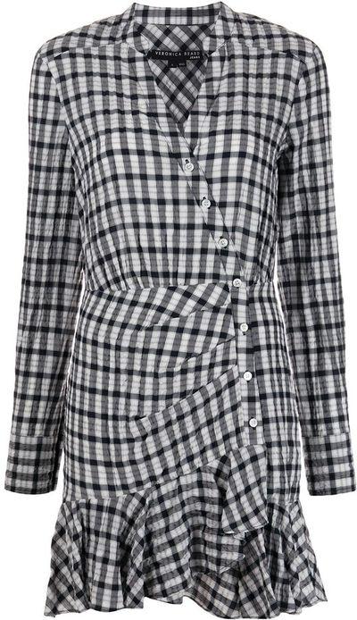Sherry checked shirt dress