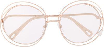 Carlina Pearl round-frame sunglasses