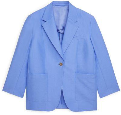 Oversized Cotton-Hemp Blazer
