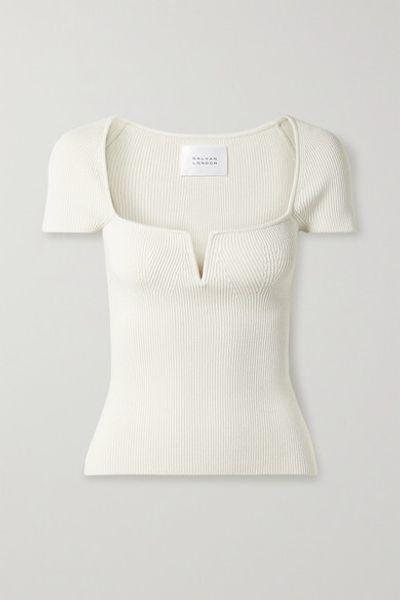 Freya Ribbed-knit Top - Ivory