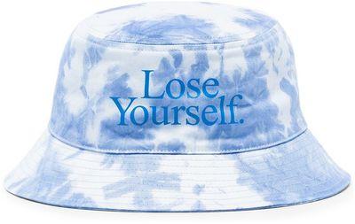 x Peter Saville Lose Yourself tie-dye bucket hat