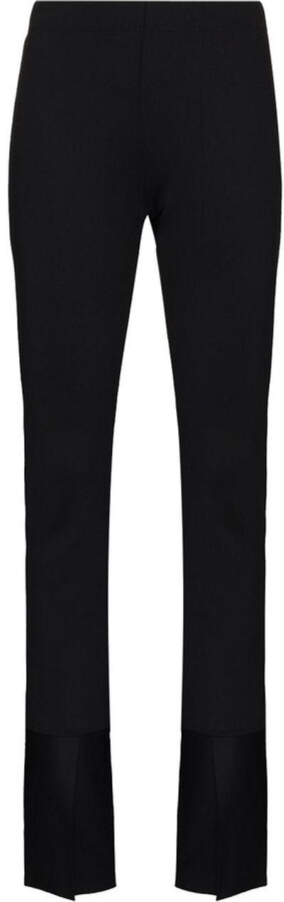Split-Cuff Slim-Fit Trousers