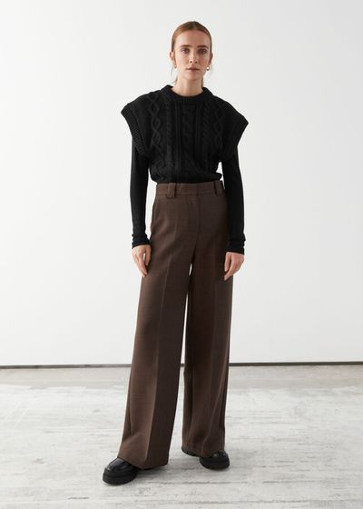 Relaxed Wide Press Crease Trousers