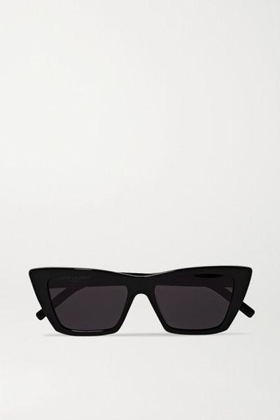 Mica Cat-eye Acetate Sunglasses - Black