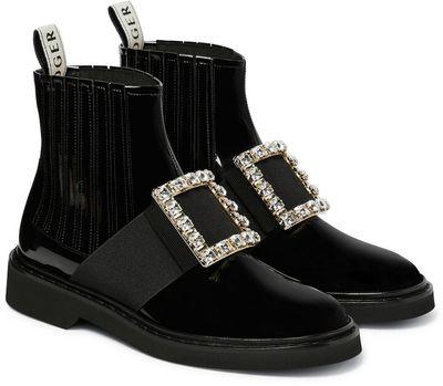 Viv' Rangers patent leather ankle boots