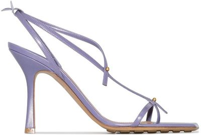 Stretch 90mm leather sandals