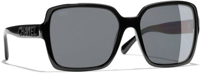 Rectangular Sunglasses CH5408 Black/Grey