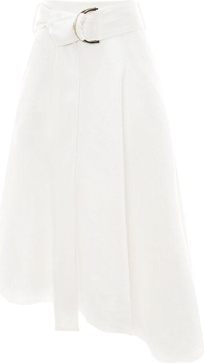 asymmetric D-ring mini skirt