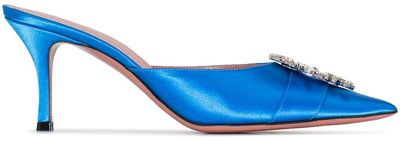 Satin Bejewelled Detail 70mm Mules