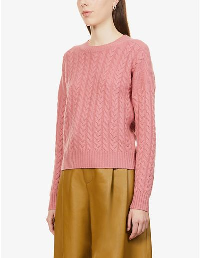 Breda cable knit wool and cashmere-blend jumper