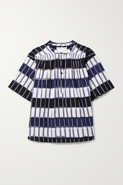 Mission Striped Cotton Top - Navy