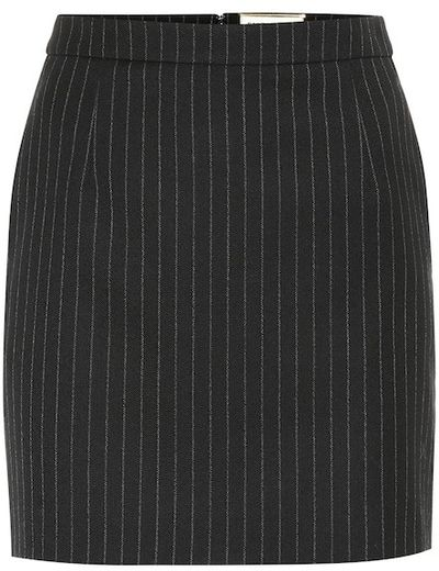 Pinstriped wool skirt