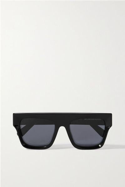 D-frame Acetate Sunglasses - Black