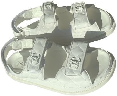 Dad Sandals White Leather Sandals