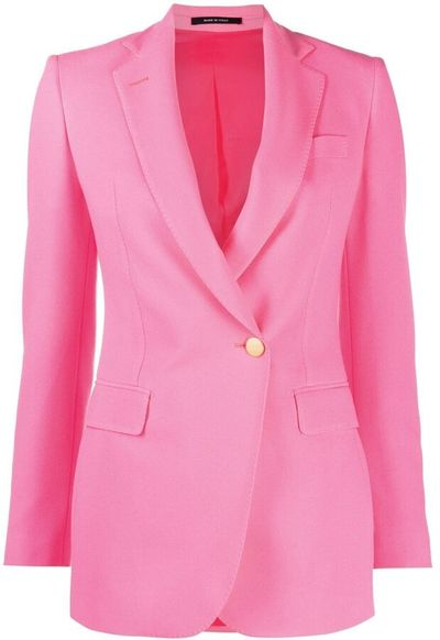 Fitted Off-Centre Button Blazer