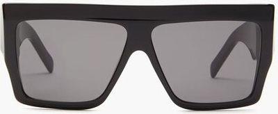 Flat-top Acetate Sunglasses - Black