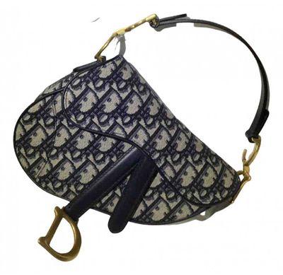 navy Linen Handbags