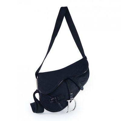 Saddle Black Cloth Handbags
