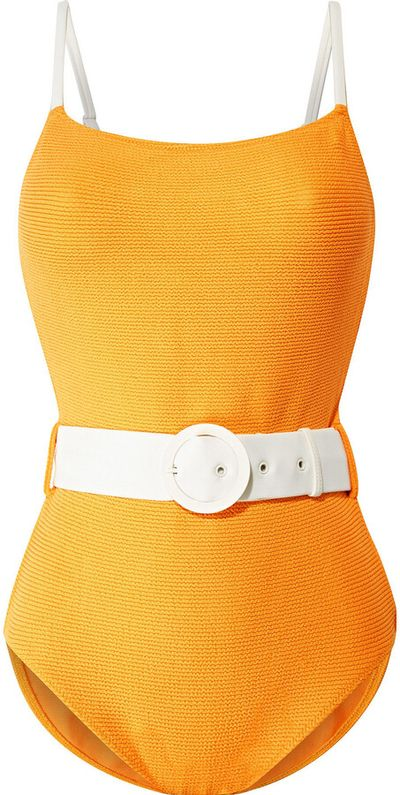 The Nina Belted Textured Swimsuit