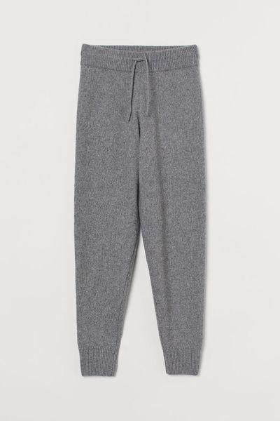 Knit Joggers - Gray