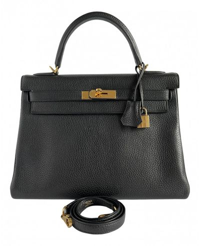 Hermã ̈S HermAs black Leather Handbags
