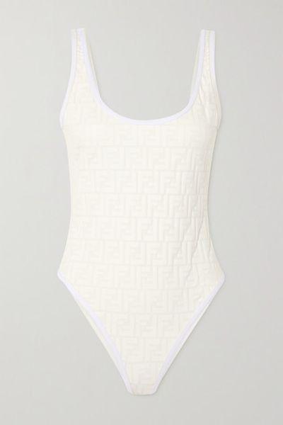Embossed Swimsuit - White