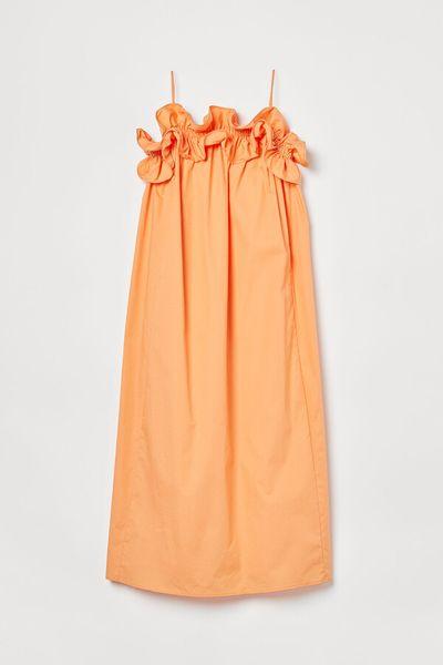 Flounce-trimmed dress